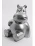 Nilpferd- Silber,  Designer Deko Figur