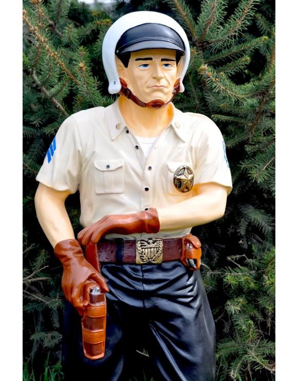 US COP, POLIZIST, FAST STATUE, Dekorationsfigur, DEKO