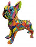 Französische Bulldogge - Designer Deko, POP-ART