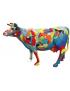 Abstrakte Kuh, Designer Deko Figur Hochglanz-Lack, POP-ART, MODERN