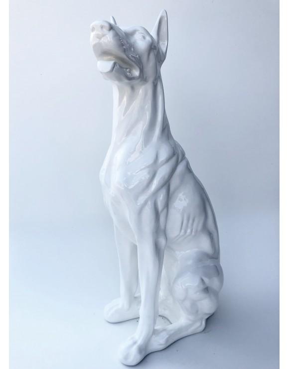 Hund Deko.Design Dobermann Figur Hundefigur Hund Deko Statue Skulptur Garten Doberman