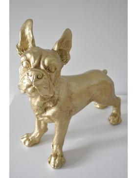 Französische Bulldogge GOLD, Designer Deko, Figur