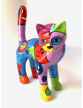 Katze - Designer Deko Figur Hochglanz-Lack