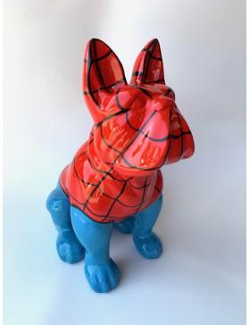französische Bulldogge, SPIDERMAN, Designer Deko