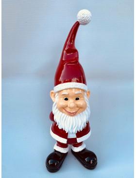 Weihnachtsmann mit Solarlampe