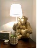 Affe, Lampe XXL - Sitzend - Weiß