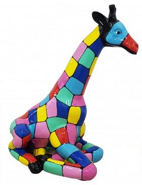 DESIGNER FIGUR - Giraffe, POP-ART