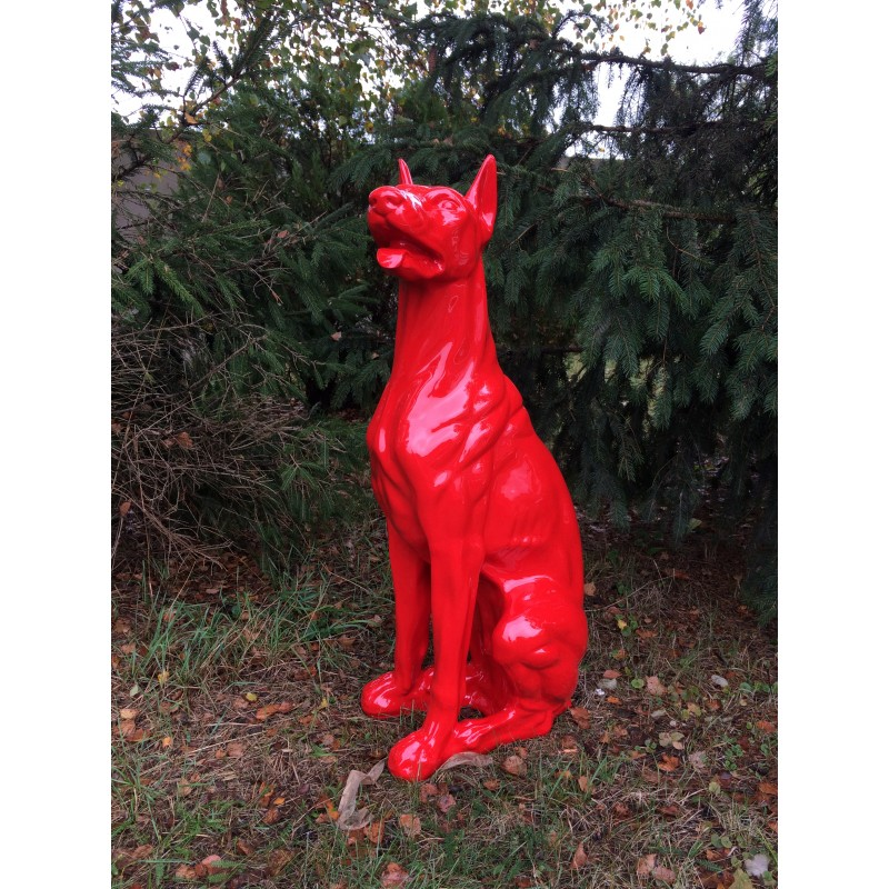 Design Dobermann Figur Hundefigur Hund Deko Statue Skulptur Garten