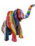 DESIGNER FIGUR - Elephant, Pop-Art