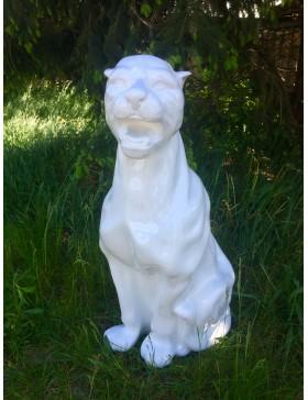 Weißer Panther, Leopard, Designer Deko